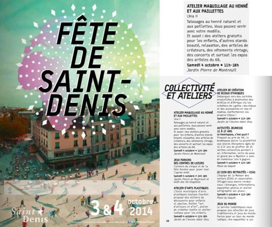 Atelier henné à la fête de Saint-Denis