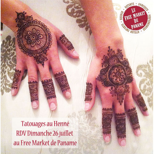 Tatouage au henné au cabaret sauvage